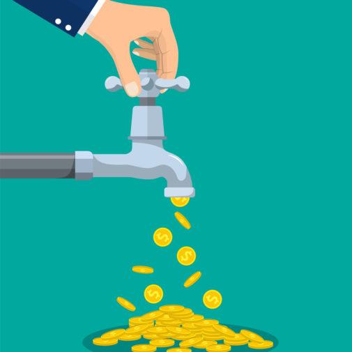 robinet argent main action business Les clés du cash-flow management